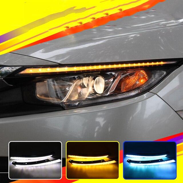 Car Flashing For Honda Civic 2016 2017 Blink Led Headlight Eyebrow