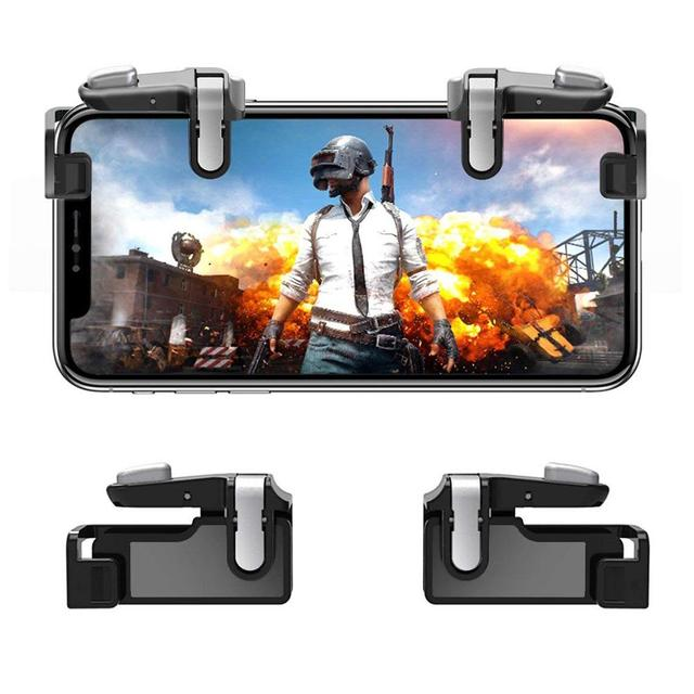 BEESCLOVER PUBG Mobile Sensitive Game Trigger Fire Button CellPhone Shoot Aim Key L1/R1 Controller Joystick for IOS Andriodr r29