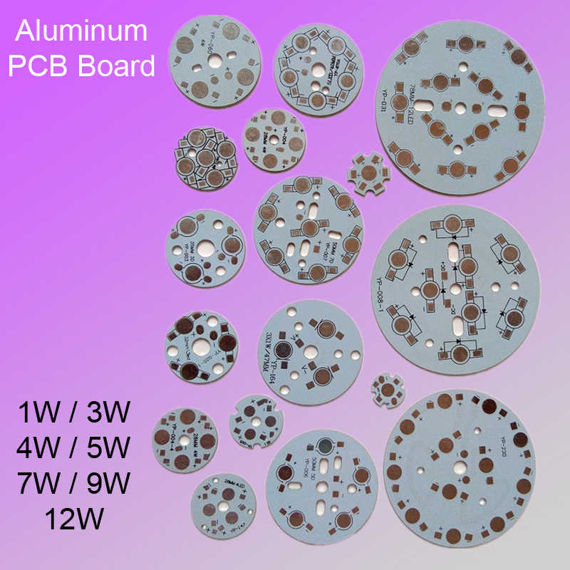 Aluminum Base 1W 3W 4W 5W 7W 9W 12W Light Panel DIY for Flashlight Substrate ,bulib light Plate LED PCB Board Heat Sink Board