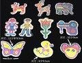 10 шт./лот головоломки Pegboards шаблоны с цветная бумага для 5 мм бусины DIY дети ремесла пластиковый трафарет ребенок предохранитель-бесплатная бусины игрушки