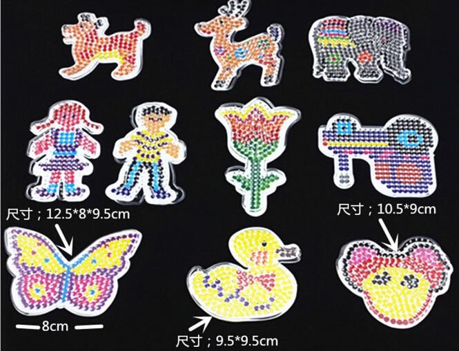 ᗜ Ljഃ10 unids/lote puzzle pegboards Pegatinas para uñas con papel ...