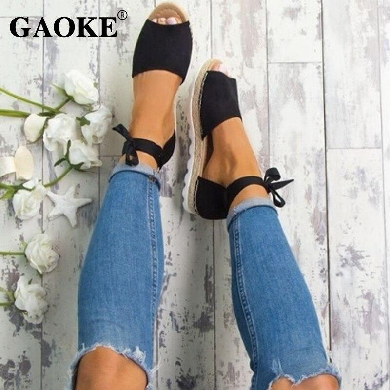 Summer Rome Woman Sandals Ankle Strap Flat Women Sandals Fashion Peep Toe Gladiator Party Woman Shoes Beach Platform Sandals