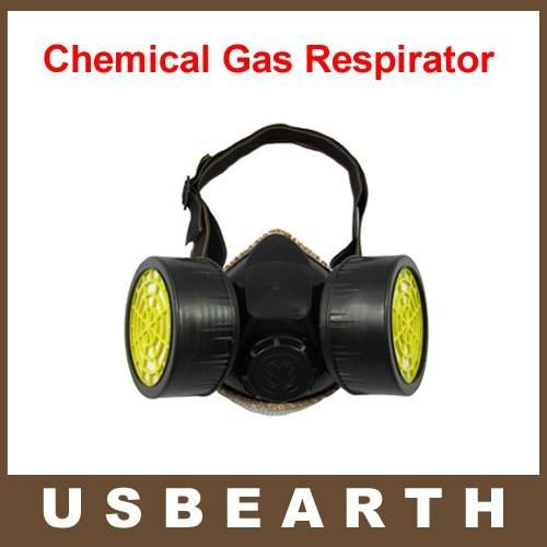 Anti Dust Paint Double Gas Mask protection filter Chemical Gas Respirator Face Mask