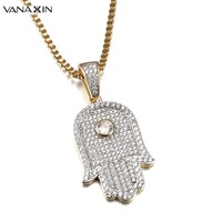 VANAXIN Classic Pendant Necklace Fashion Luxury Wedding 2017 New Gold Color Link Chain Necklaces Statement Jewelry