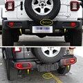 Yimaautotrim задние противотуманные фары  рамка для лампы  накладка ABS  подходит для Jeep Wrangler JL 2018-2020 внешний/красный/Хромированный вид