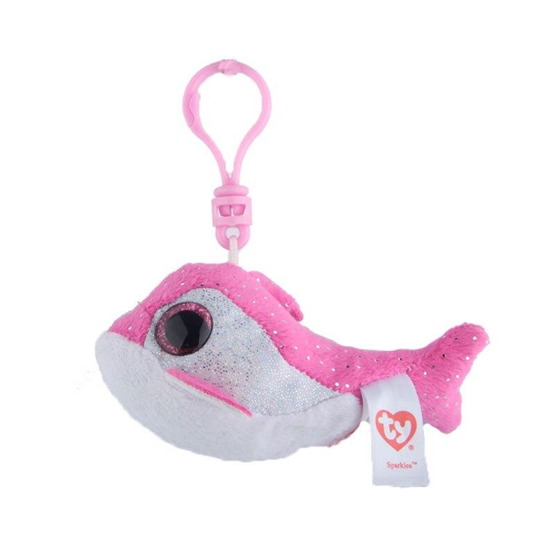 Elsadou Ty Шапочка Боос большие глаза Плюшевые Дельфин игрушка-брелок кукла TY подарок для маленьких детей