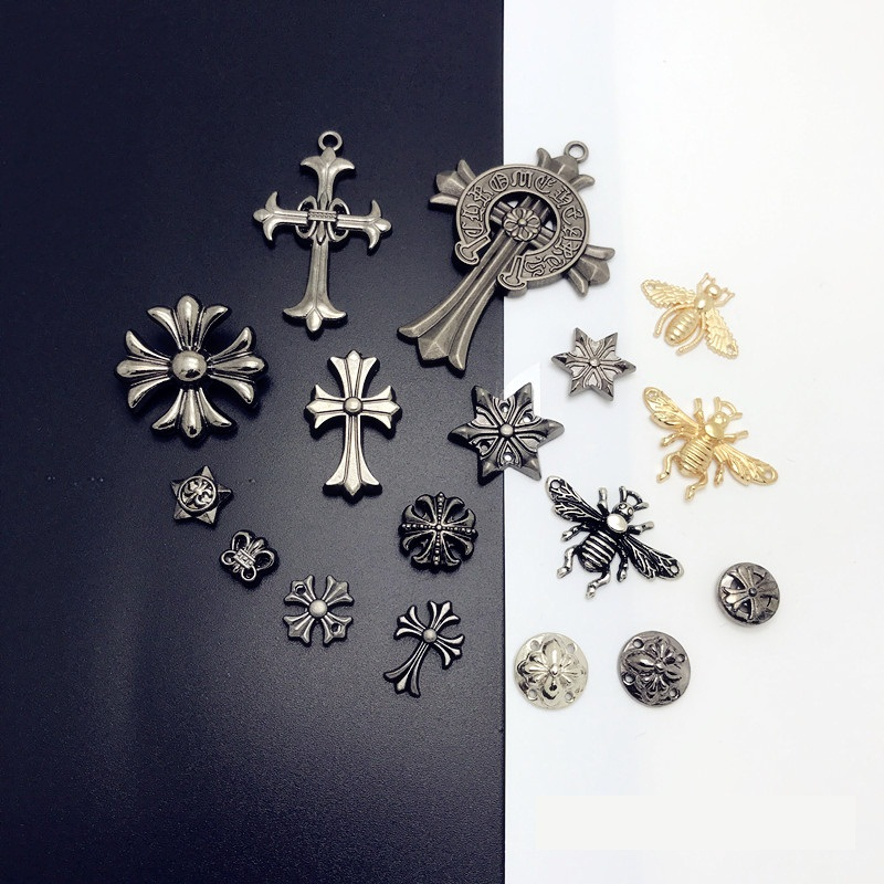 DIY Rivets Garment Clothes Shoes Leather Goods Accessories Punk Skull Cross Crocodile Bees
