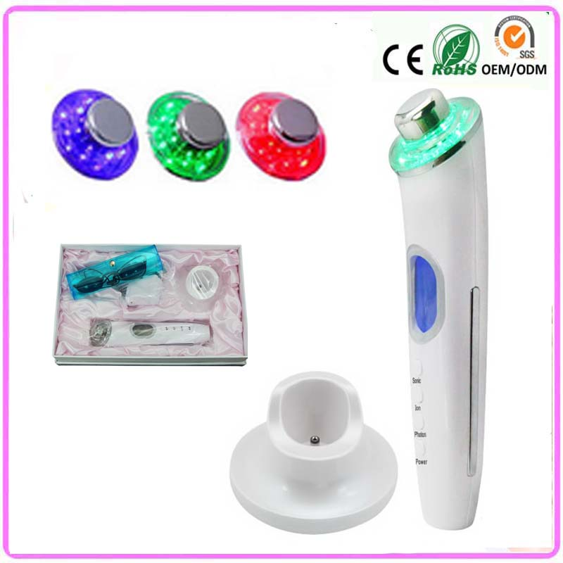 Portable 3mhz Ultra Sound Galvanic Ultrasonic Ion Photon Therapy Skin Tightening Face Lifting Facial Beauty Salon Massager