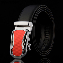 WOWTIGER car Automatic buckle belts Fashion designer leather belt business luxury men`s belt for men