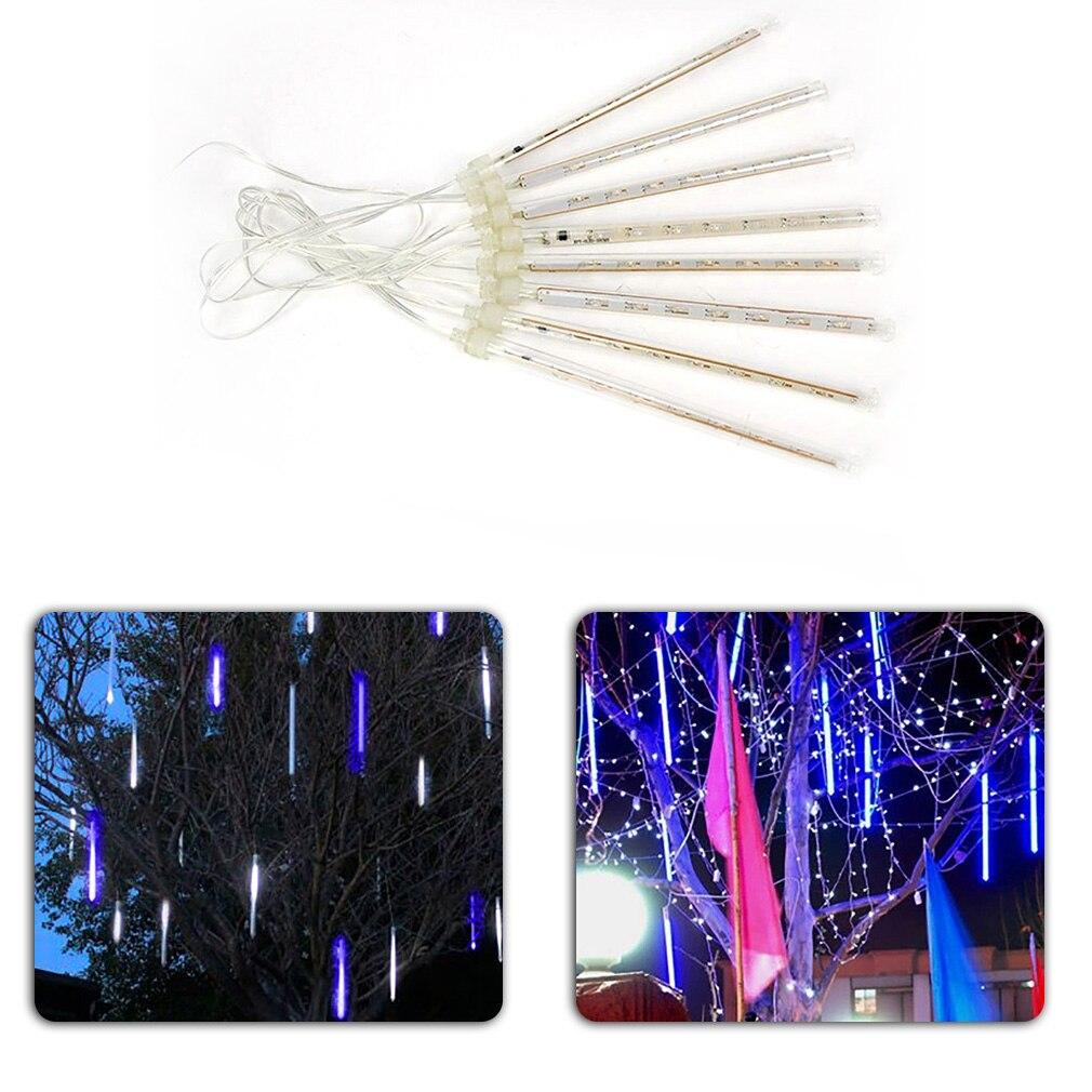 20 см светодиодный освещения красочные метеоритный дождь трубки огни Новогоднее украшение