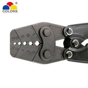 Image 3 - HX 10 обжимные плоскогубцы для неизолированных клемм (шестигранного типа) японский стиль емкость 1,5 10 мм2 15 7AWG электрические инструменты