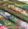 Largura 150 cm camuflagem tecido Oxford impresso pano de prata ou PU à prova d' água ao ar livre tendas, tecido tampa Do Carro sombrinha