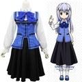 Gochuumon wa Usagi desu ka Cosplay Costumes Kafuu Chino School Uniform Complete Outfit for Halloween
