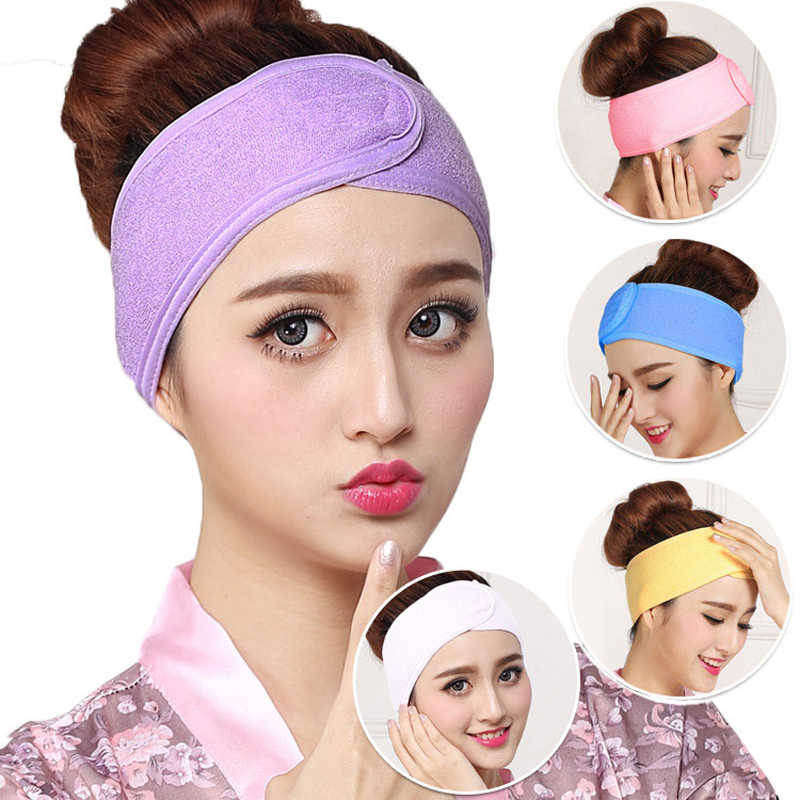 Popular Head Scarf Beauty Salon Soft Towel Hair Band Wrap Headband For Bath Spa Yoga Sport Make Up Shower Head Band Salon Towel