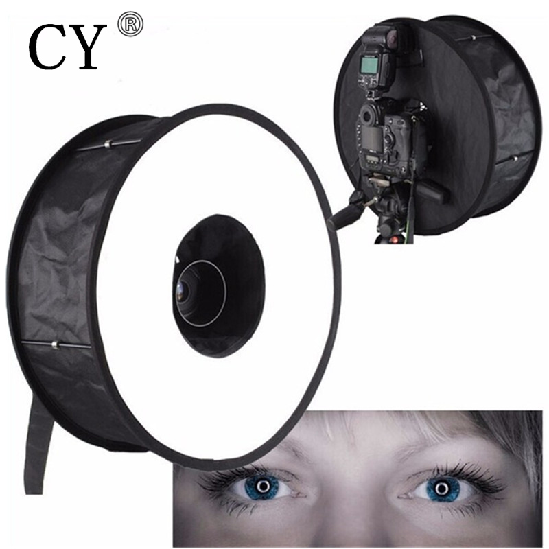 46cm Ring Softbox For SpeedLite Flash Light Foldable Diffuser Shoot Soft Box Speedlight Camera Ring Softbox Studio Accessories