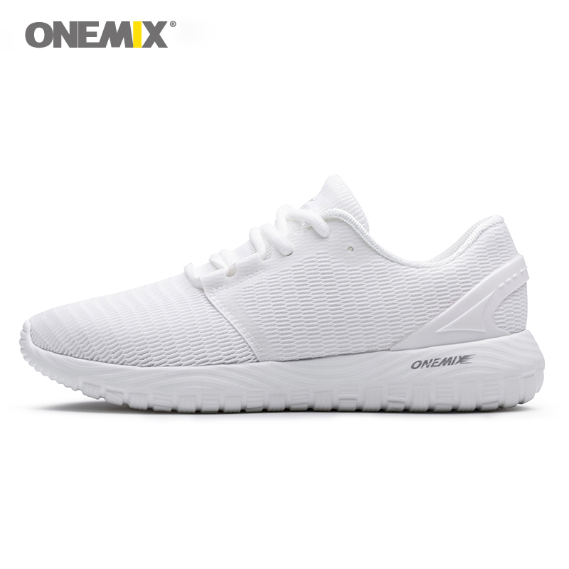 ONEMIX Men's Running Shoes Cool Sneakers Deodorant Insole Light Soft Comfortable Sneakers For Outdoor Running Super Light Shoes super soft frisbee ufo style silicone indoor outdoor toy for pet dog light green