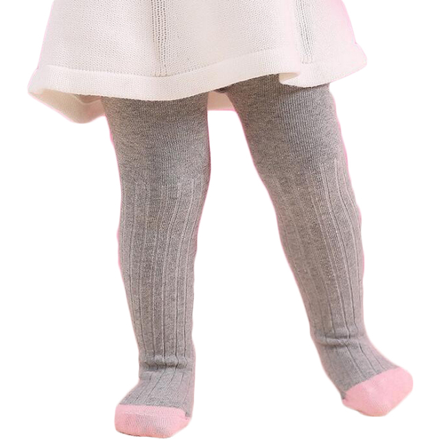714217827 Children s Spring Warm Tights for Baby Girl Mix Color Cotton Pantyhose Pink  Gray Yellow White Toddler Clothes Wear 0- 3T TI-04