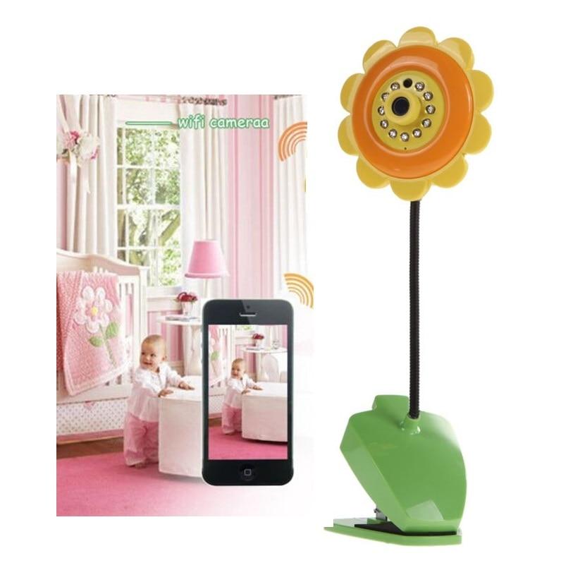 Radio Babysitter wifi baby camera 1.0 Megapiexls CMOS ip camera IR Night vision sunflower wifi camera baby alarm monitor fetal