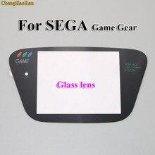 Protetor de tela para substituição de gg, display de vidro preto para sega game gear, 1 peça
