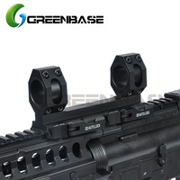 Greenbase AD Scope Mount 1 inch/30mm Dual Ring Heavy Duty 20mm Rail Mount Quick Detachable QD Auto Lock Riflescope Mount