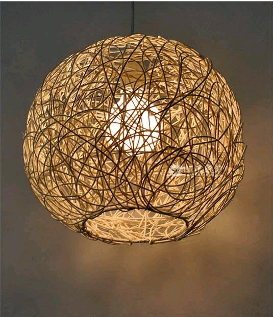 Bamboo 30cm Kitchen Pendant Light Island Ceiling Lamp Wood zb55 804