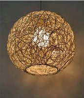 Bamboo 30cm Kitchen Pendant Light Island Ceiling Lamp Wood zb55