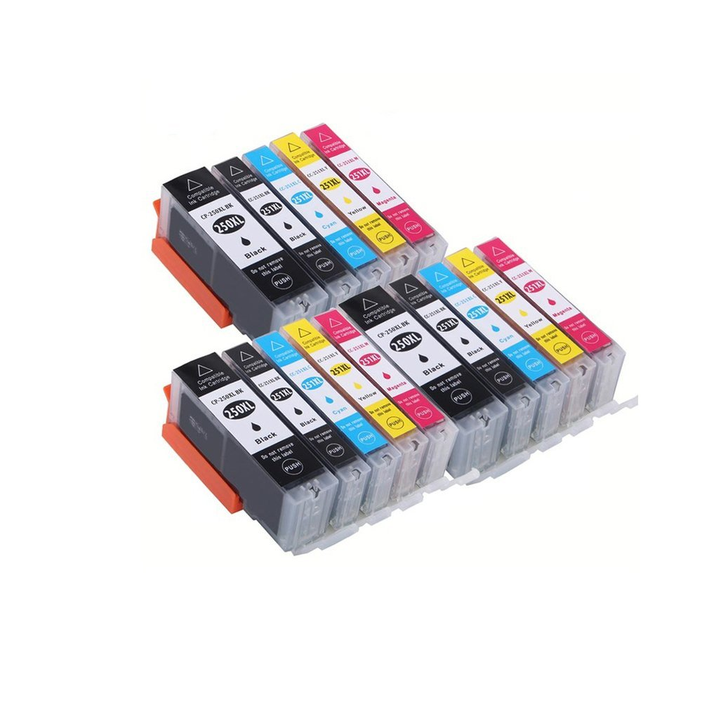 15x PGI-250 CLI-251 xl Ink Cartridge Compatible For Canon PIXMA IP7220 MG5420 MG6320 MG7120 7520 IP8720