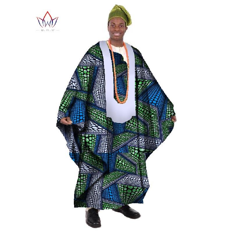 2017 Africain Imprimer Cire Sur Mesure Long Hommes Lâche Plus La - Vêtements nationaux - Photo 2