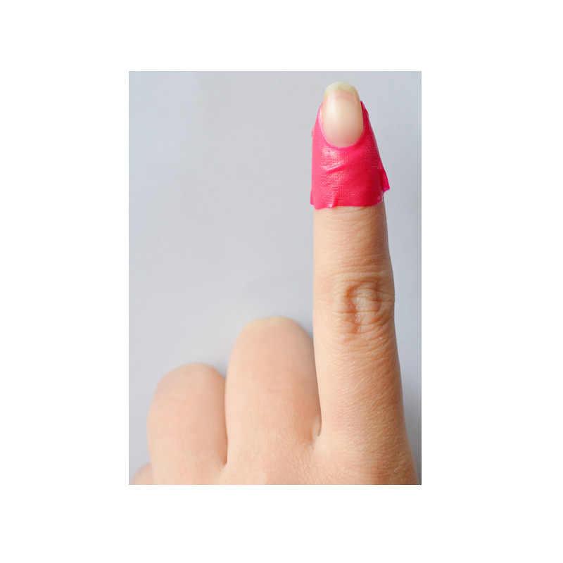 10 stk/pak Nail Protector u-vorm Nail Form Guide Sticker Finge Nail Art Stickers Tips Cover Case Houden Nail polish Morsen