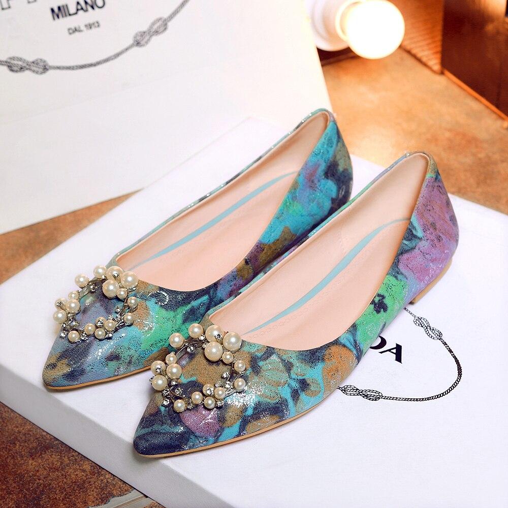 En Najaar Nieuwe Producten mannen Schoenen Koreaanse Ronde Hoofd mannen Casual Oxford Schoenen Leer Goud Geborduurde Dating schoenen - 4