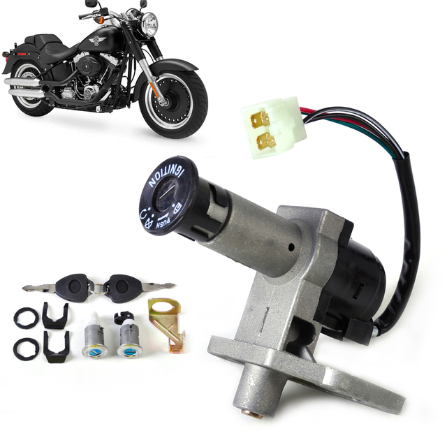 4PIN Key Ignition Switch Lock Toolbox Cushion Lock Set fit for 50cc 125cc 150cc 250cc GY6 ATV Moped Scooter Chinese Part 4 Wire