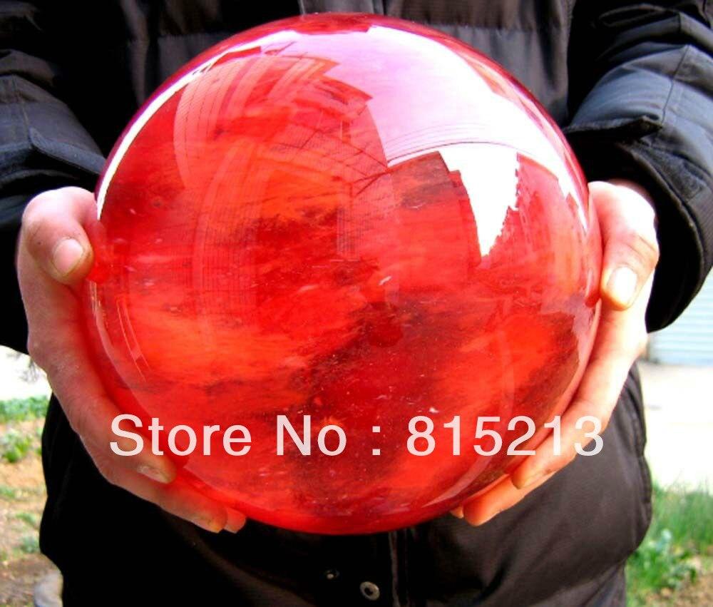 ddh00664 POLISHED Cherry Red QUARTZ CRYSTAL SPHERE balls 13kg