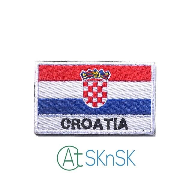 2pcsset Embroidery Badge Croatian National Flag Of Croatia Military