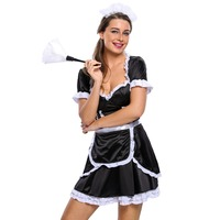 FGirl Cosplay Costume Sexy Halloween Costumes for Women Flirty Mistress Maid Costume FG41643