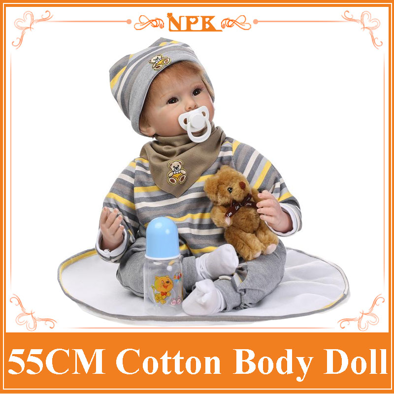 22 Inch Silicone Reborn Baby Doll Toys For Girl Lifelike Boy Baby Dolls Reborn Birthday Christmas Gifts Kids Child Toys handmade ancient chinese dolls 1 6 bjd jointed doll empress zhao feiyan dolls girl toys birthday gifts