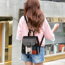 Litthing Fashion Four use Casual  Leather Women Backpacks Female Larger School Retro Pannelled Shoulder Bag