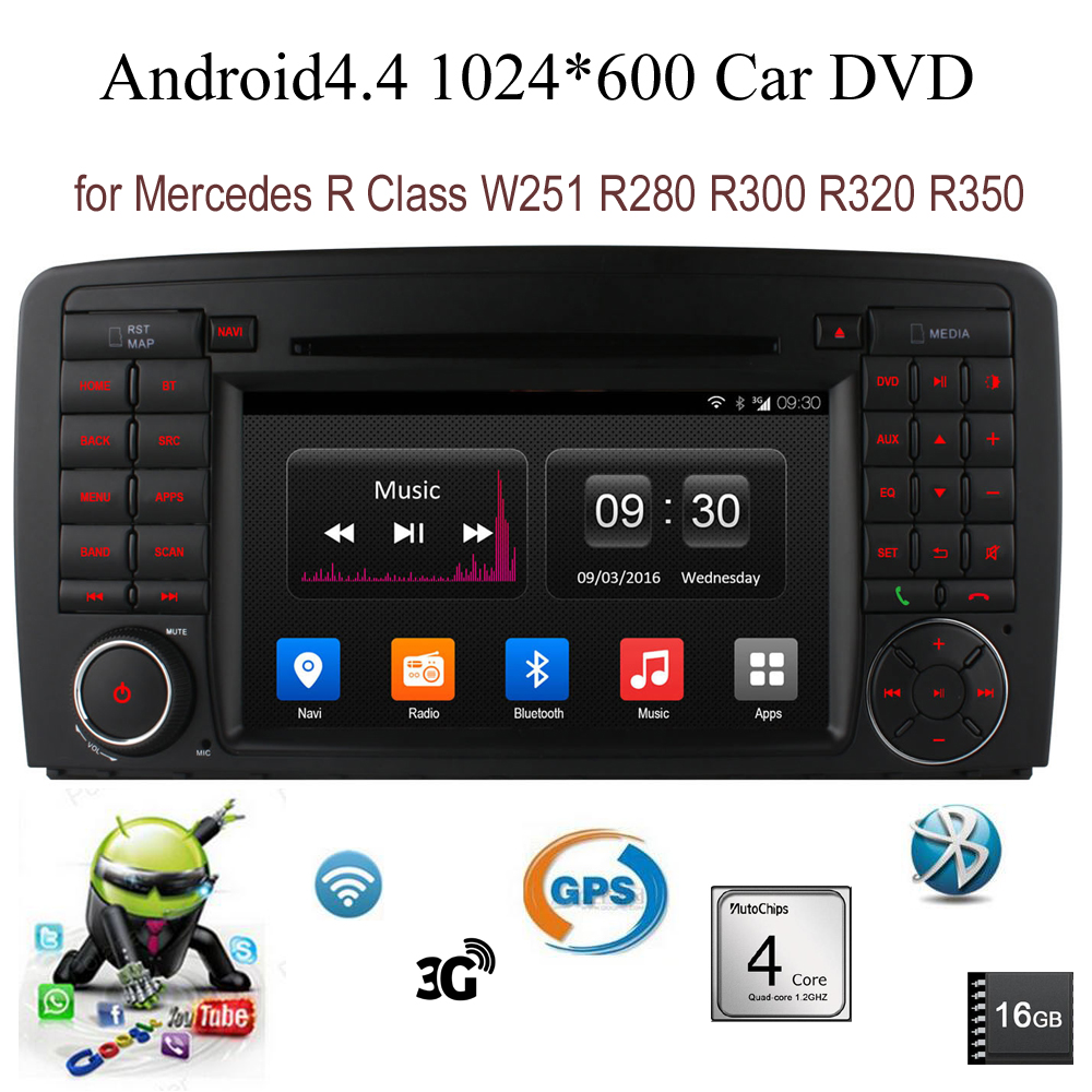 Android4 4 Car DVD CD 16GB radio stereo For B enz R Class W251 R280 R300