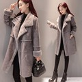 2017 spring new women jacket artificial fur rabbit long coat winter wool jackets fashion style for girls winter autumn trench