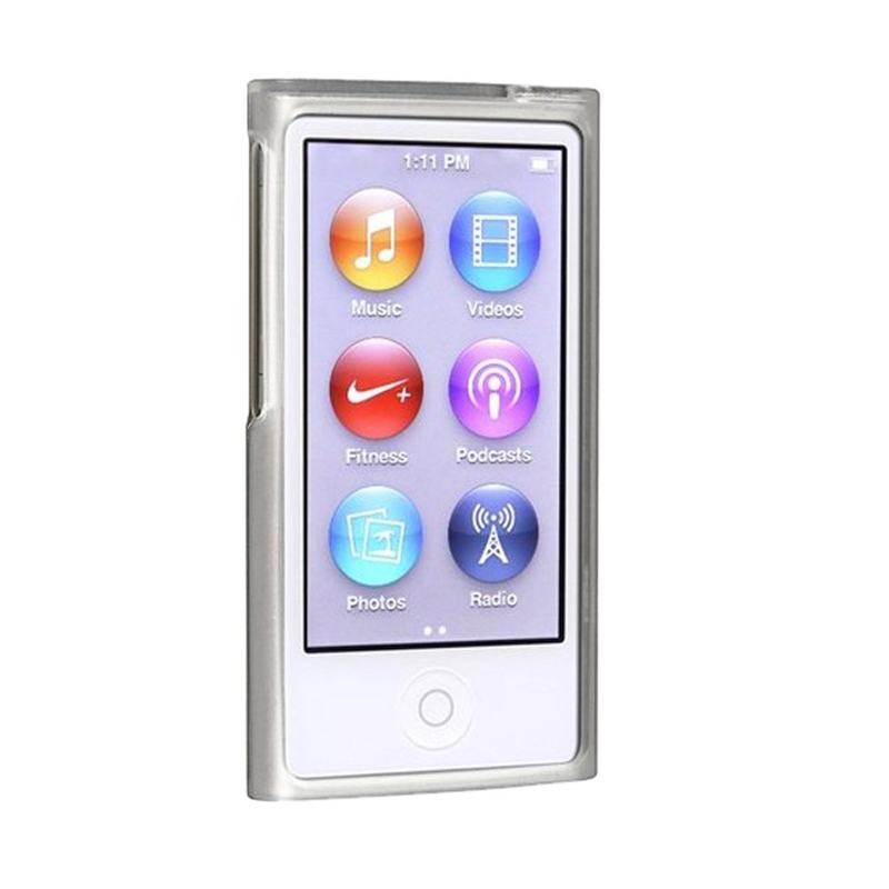 New Frost Clear Soft TPU Gel Rubber Silicone Case For Apple iPod Nano 7th Gen 7 7G nano7 Cases skin cover coque fundas in MP3 MP4 Bags Cases from Consumer Electronics