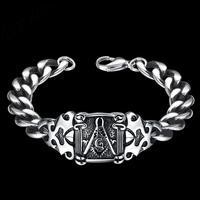 Men cool vintage bangels H029 Fashion 316L stainless steel bracelet for man 3
