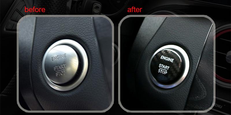 2019 Carbon Fiber Start Stop Engine Button Cover Sticker