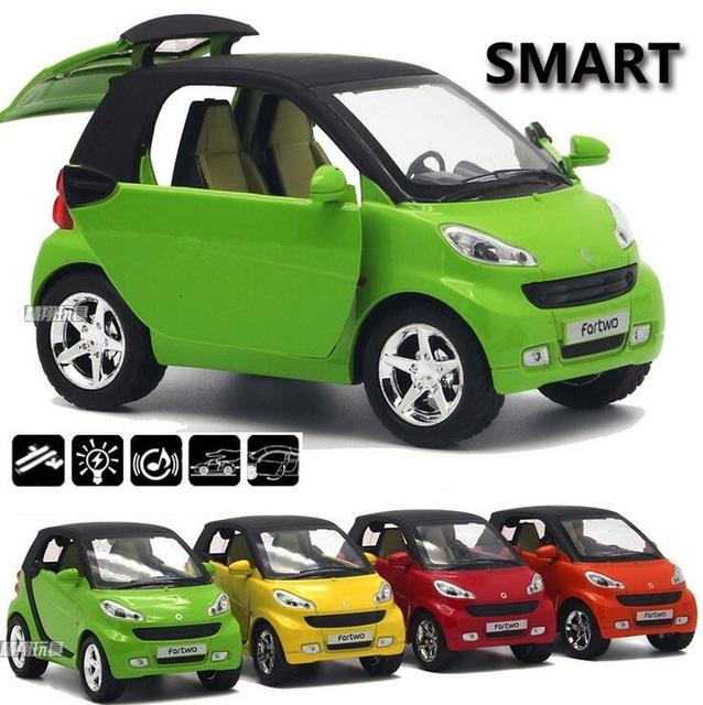 New Smart Fortwo Pull Back Car Model 1 32 Original Alloy Models Baby Toy Educational Gifts For Boys