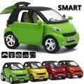 Nuevo Smart Fortwo Tire volver Modelos de Automóviles de Aleación Modelo de Coche 1:32 Original Bebé Juguete Educativo Tire Hacia Atrás de Regalos Para Los Niños