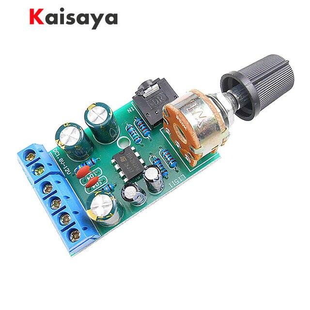 US $1 98 5% OFF| 2 0 Stereo TDA2822M mini Audio Amplifier Board 1 5W*2 AMP  AUX Amplifiers Module DC 1 8 12V For 4 32Ohm Speaker A5 003-in Amplifier