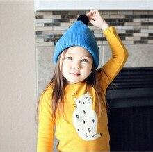 Новая детская зимняя шапка мальчик девочка теплая шерсть вязаная шапка конфеты цвет дети весна осень моды шляпы cap