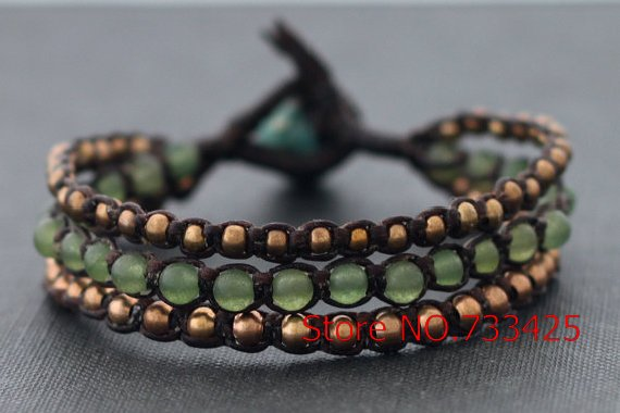 Black Cord Bracelet With Wax Handmade Woven Thai Style Br Bell Closure For Women