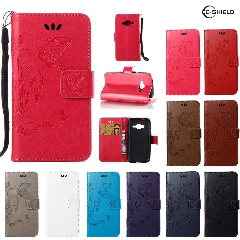 reputable site a55dd db4f8 US $4.41 6% OFF Flip Case for Samsung Galaxy J1 Mini Prime J106F Leather  Flip Cover Wallet Case SM J106H SM J106F SM J106F/DS Mobile phone bag-in  Flip ...