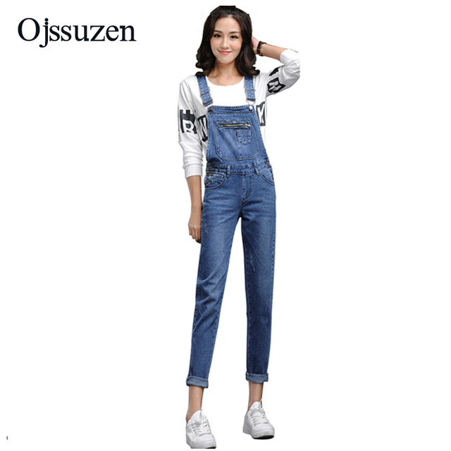 939723454f92 New 2018 Denim Jumpsuits For Womens Jeans Jumpsuits Summer Slim Jeans  Skinny Overalls For Ladies Denim Overalls Female