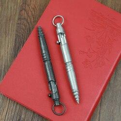 Vintage Tactische Pen Rvs Retro Ontwerp Bolt Schakelaar Balpen Zelfverdediging Levert EDC Tool High-End geschenkdoos
