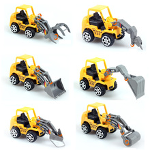 6 types Fashion Engineering vehicles Kids Cartoon Car Toys Best gift for baby